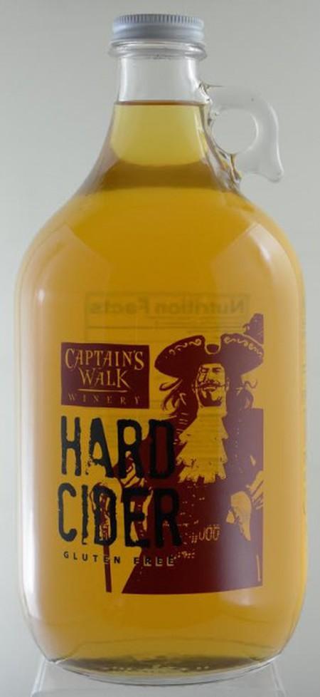A growler of Captain's Walk Cider