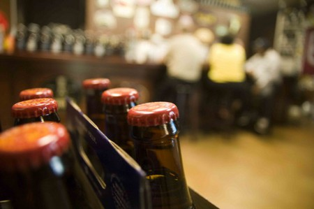 Several choices for bottled beer