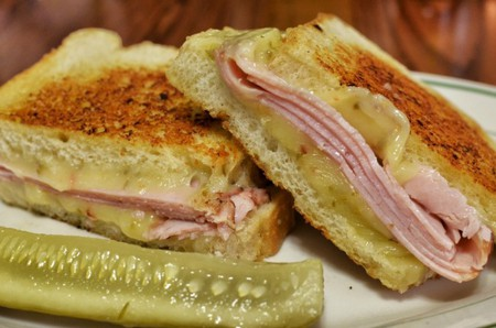 Mmm... back to basics - grilled ham and cheese