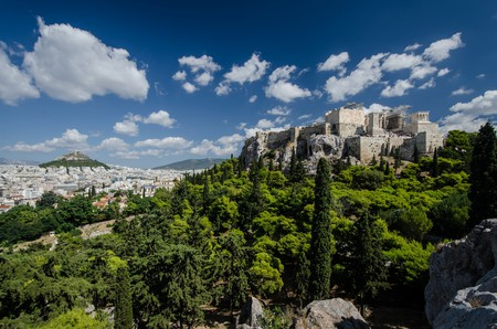A picturesque scene of Athens