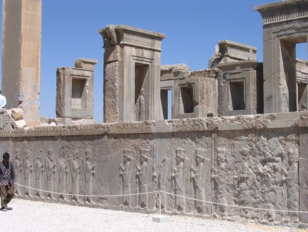 The ancient Persian city of Persepolis