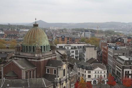 Charleroi seen from the belfry of the Place du Manège.