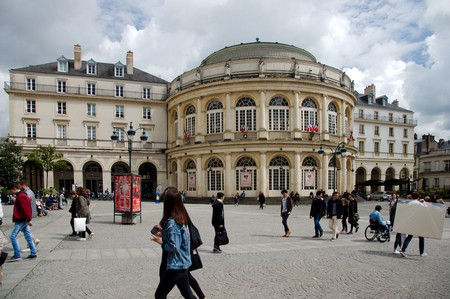The Place de la Mairie at the heart of Rennes' Historic Center