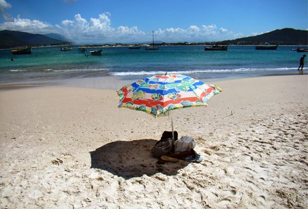Chilling on the beach in Brazil