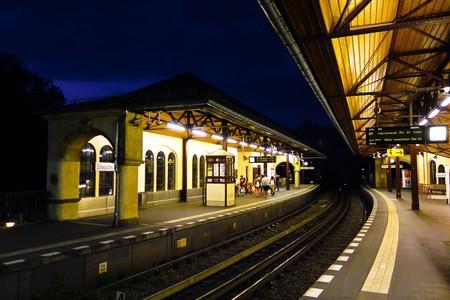 Berlin station at night