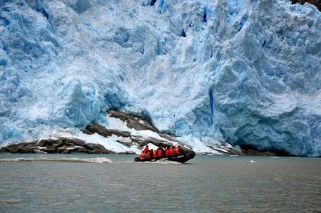 Glacier in the Chilean fjords