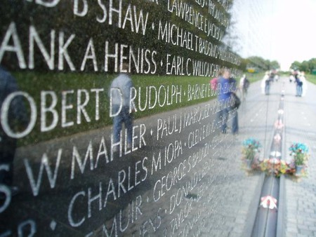 The Vietnam Veterans' Memorial has over 58,000 names engraved