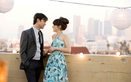 "Joseph Gordon-Levitt and Zooey Deschanel in ""(500) Days of Summer."""