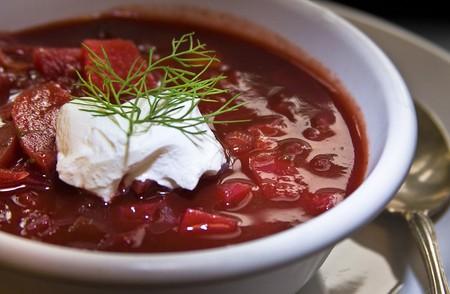 Traditional Ukrainian borscht