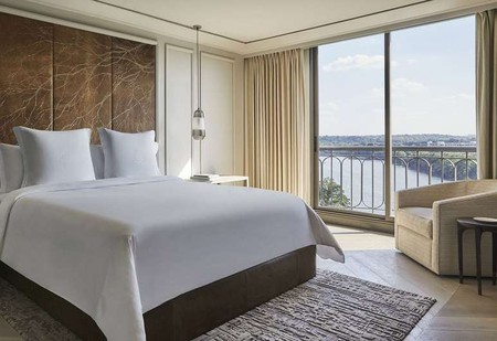 Rooms at the Four Seasons Hotel Austin look out onto Lady Bird Lake