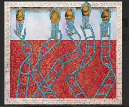Francesco Clemente, Sixteen Amulets for the Road (XII), India 2012-2013, watercolour on paper, 49.9 x 56.9 cm