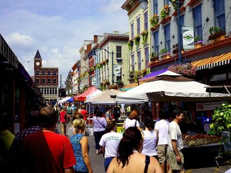 People taking a stroll through Findlay Market