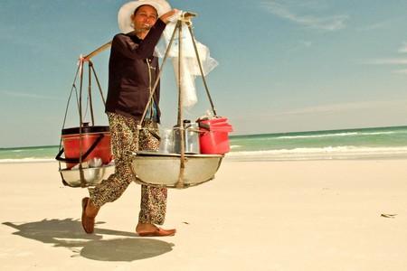 Food vendor working on Phu Quoc Island, Vietnam