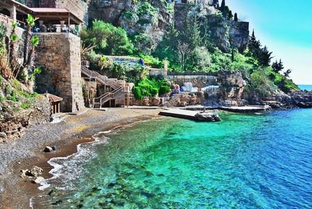 A stunning bay in Antalya in the summer