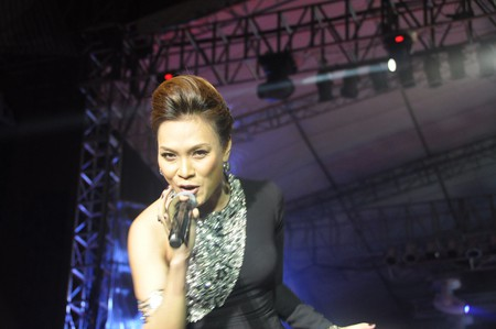 Famous singer My Tam performing in Hanoi