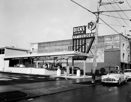 Dick's Drive-In on Broadway, 1955