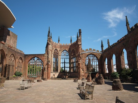 The ruins of Coventry's cathedral