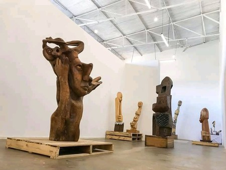 Sculptures on exhibition in Afriart Gallery