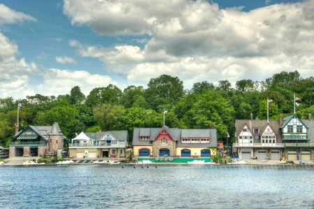 Boathouse Row by day