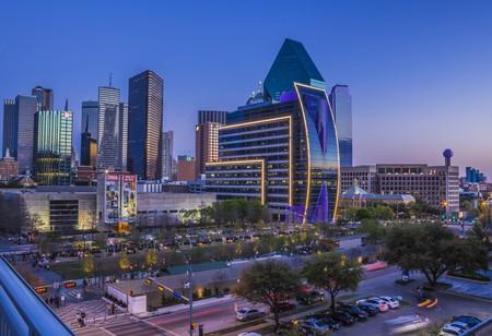 Dallas Arts District shines beautifully at night