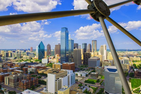 View of the Dallas skyline from the Reunion Tower