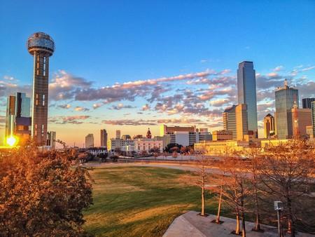 The Dallas skyline at dusk is breathtaking