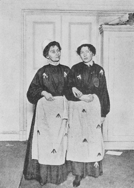 Emmeline and Christabel Pankhurst in Prison
