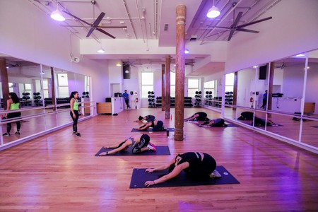 Yoga class in session at Fit House