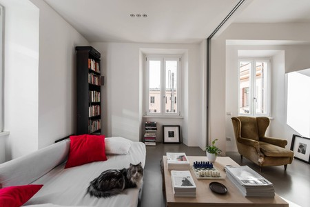 The living space at an Airbnb in Ostiense