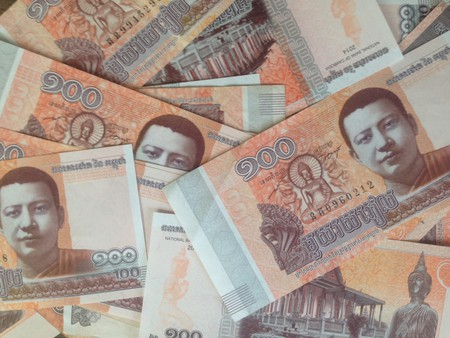 Cambodia's riel notes depict some iconic figures