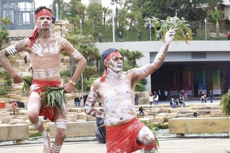 Indigenous ceremony in Barangaroo, Sydney