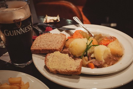 Irish stew and Guinness