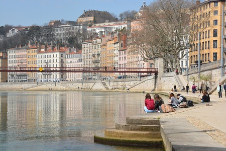 Hanging out by the Saône River