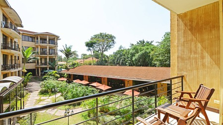 The view from the executive suite at Protea Hotel Kampala