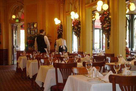 A fancy restaurant