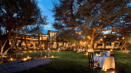 Alfresco dining under the African sky