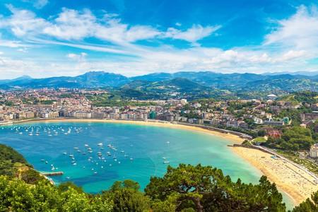 Panoramic view of San Sebastián, Spain