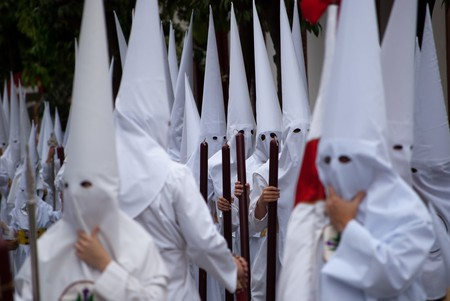 Penitents during Easter