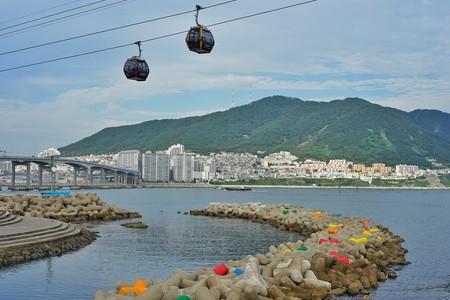 Cable car in Busan, South Korea