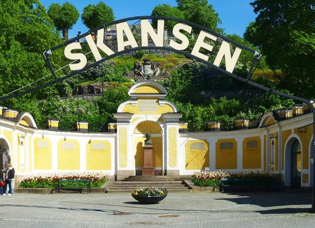 The grand entry to Skansen