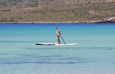 Paddleboarding is an enjoyable pursuit whether alone or in a group