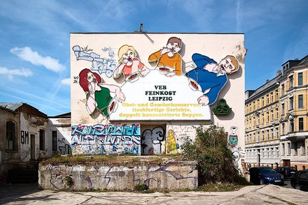 The old sign at the Feinkostgelände