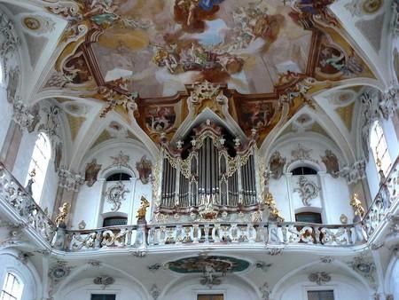 The gorgeous pipe organ at the Wallfahrtskirche Birnau