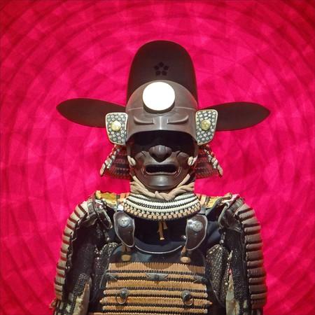Samurai armour on display in the Château des Ducs de Bretagne, Nantes