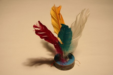 Feathered shuttlecock used for Jianzi