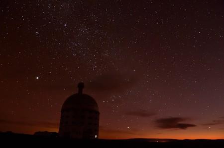 Sutherland Observatory at night
