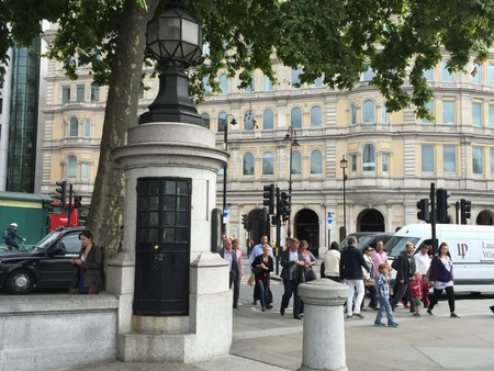 Police box in Trafalgar Square