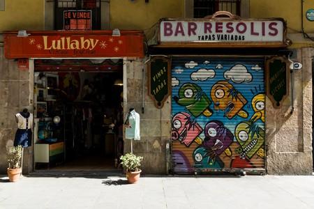 Barcelona shop and restaurant