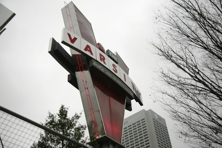 The iconic neon sign at the Varsity in Atlanta