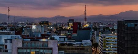 Mexico City at dusk